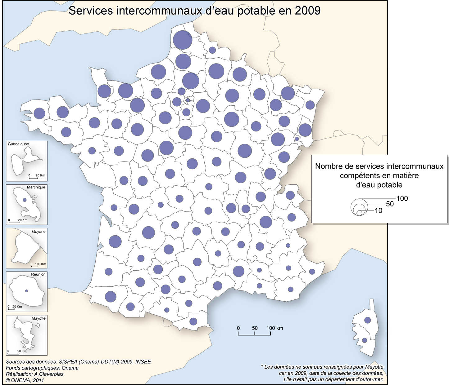 6)	Services intercommunaux d'eau potable en 2009