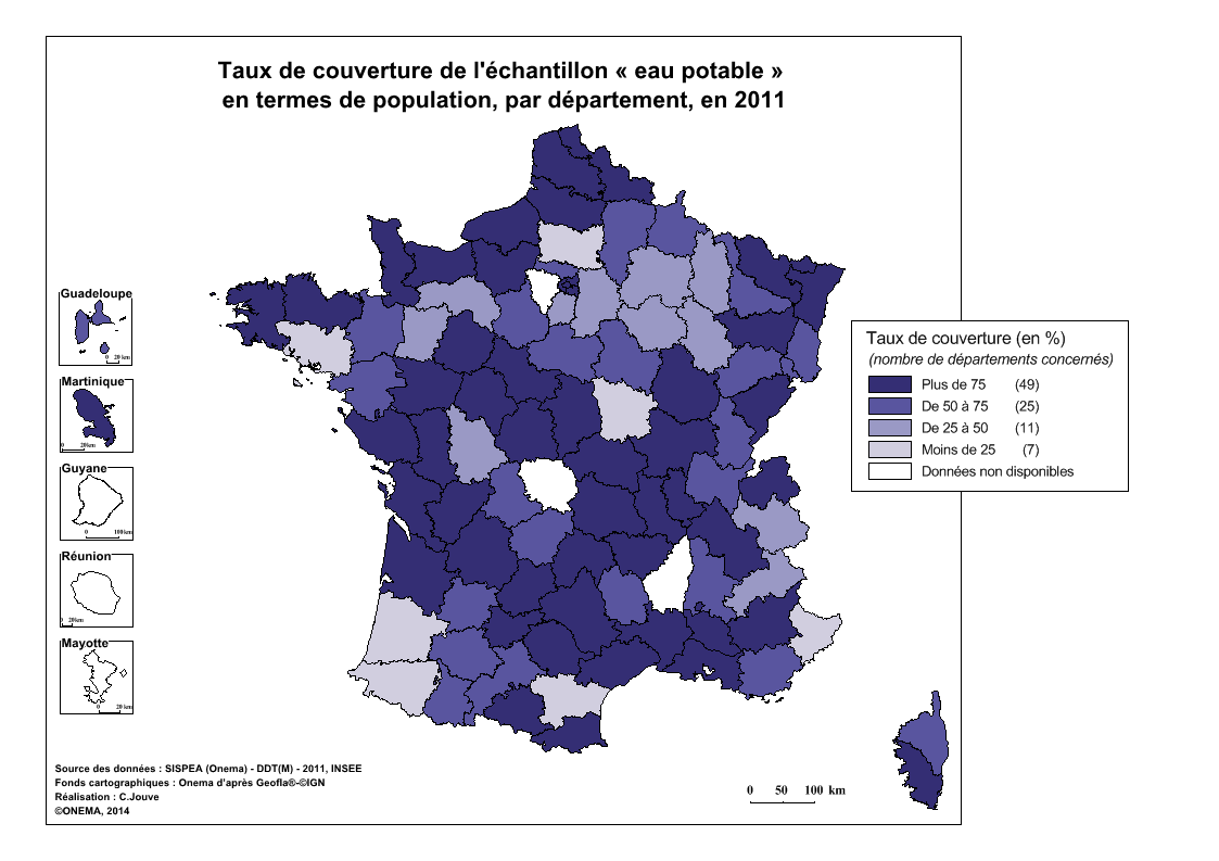 Couverture eau potable (en population)